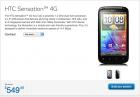 Le HTC Sensation 4G est disponible chez Bell