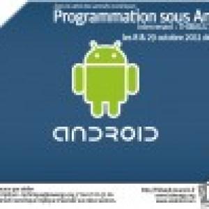 Deux journées d'initiation à la programmation Android à Montpellier les 8 et 29 octobre