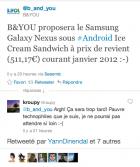 Galaxy Nexus : ODR de 100 euros chez SFR, prix coutant chez B&YOU (Bouygues Telecom), rien chez Orange !