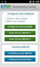 B&YOU : une application pour paramétrer plus facilement votre mobile (APN, SMS, MMS)