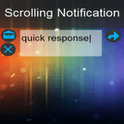 Scrolling Notifications, retrouvez vos notifications en défilement en tête d'écran