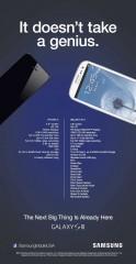 Samsung USA fait sa pub pour le Galaxy SIII
