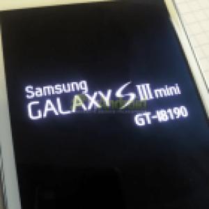 [EXCLU] Photo du Samsung Galaxy SIII Mini (GT-i8190)