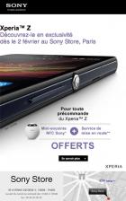 Essayez le Xperia Z dès le 2 février au Sony Store