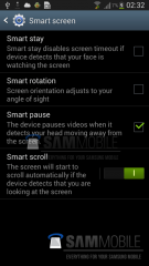 Des captures d'écran confirment que le Samsung Galaxy S IV intègrera bien le Smart Scroll et le Smart Pause