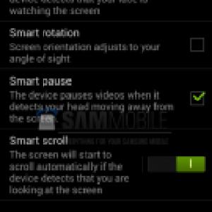 Des captures d'écran confirment que le Samsung Galaxy S IV intègrera bien le Smart Scroll et le Smart Pause