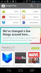 Une capture d'écran du nouveau Google Play