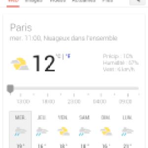 L'interface mobile des prévisions météo s'offre une mise à jour graphique
