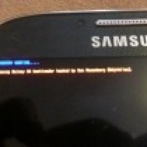 Samsung Galaxy S4, le bootloader est débloqué