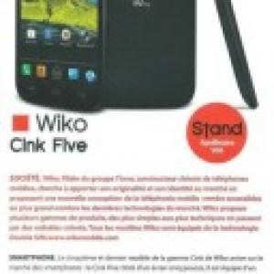 Wiko Cink Five, un autre mobile de 5 pouces en approche
