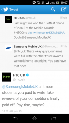 Mobile Industry Awards : Samsung et HTC se brouillent sur Twitter