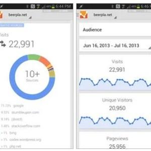 Google Analytics 2.0 sur le Google Play