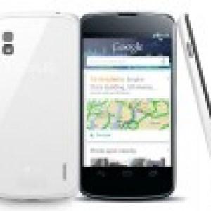 Le Nexus 4 blanc est en stock, mais pas sur le Google Play