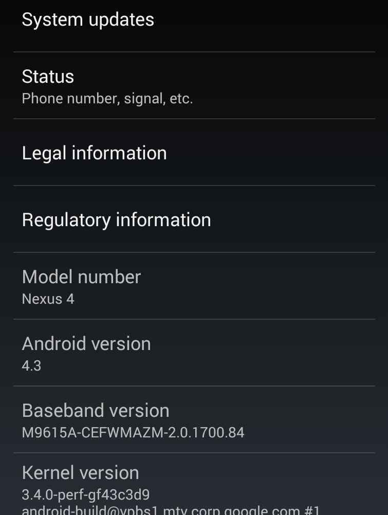 Google Nexus 7, Nexus 10 et Galaxy Nexus : forcez la mise à jour vers Android 4.3