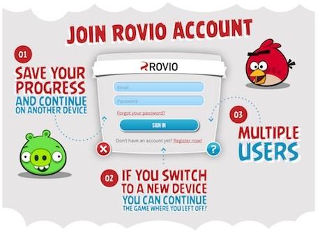 Le compte Rovio lancé sur Android (et IOS) pour synchroniser vos parties