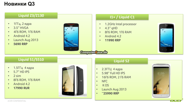 Acer Liquid S2, une phablette de 6 pouces 1080p avec un Snapdragon 800 ?