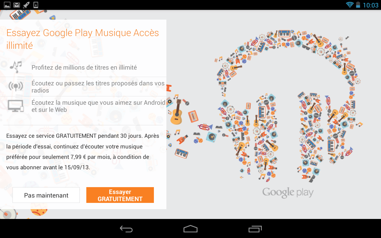 Google Play Music All Access s'invite en France !