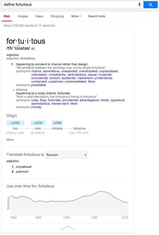 Google Search joue les dictionnaires… mais seulement aux USA