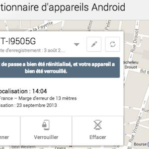 Verrouillez votre mobile à distance avec Android Device Manager
