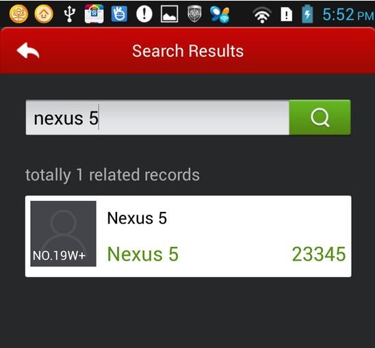 Nexus 5 sur AnTuTu : un S800 et un capteur de 8 mégapixels ?