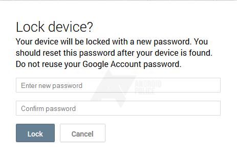 Android Device Manager permettra de changer de mot de passe à distance