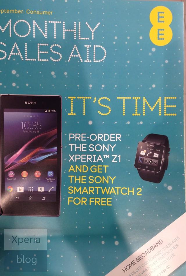 Le Sony Xperia Z1 aperçu encore une fois !