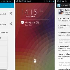 DashNotifier : une extension DashClock qui permet d'afficher les notifications de n'importe quelle application sur l'écran verrouillé