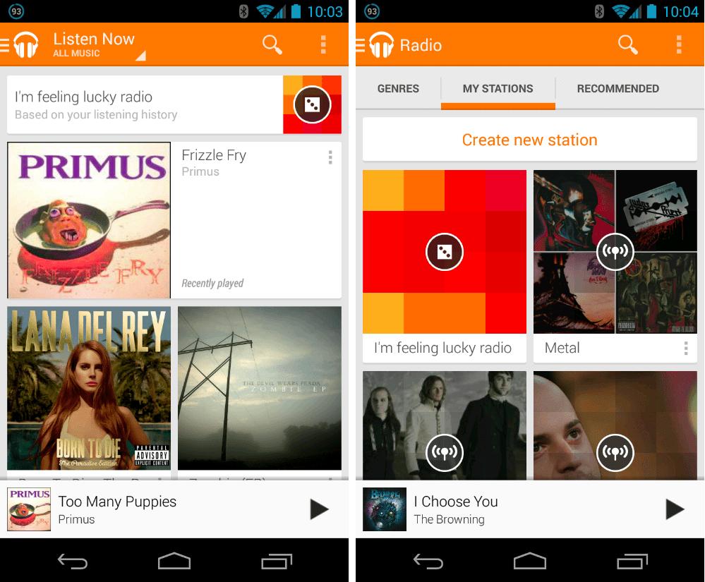 La dernière mise à jour de Google Play Musique permet de stocker la musique sur carte microSD