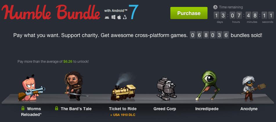 Humble Bundle for Android 7 débarque avec 6 jeux !