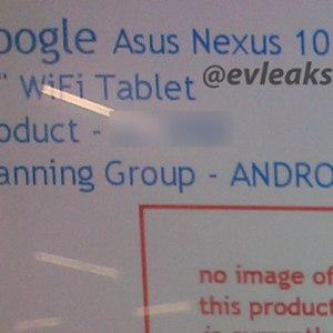 La Nexus 10 fabriquée par Asus se confirme