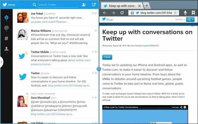 Une application Twitter optimisée pour les tablettes Samsung bientôt disponible