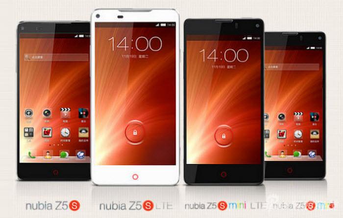 ZTE présente les Nubia Z5S et Z5S mini