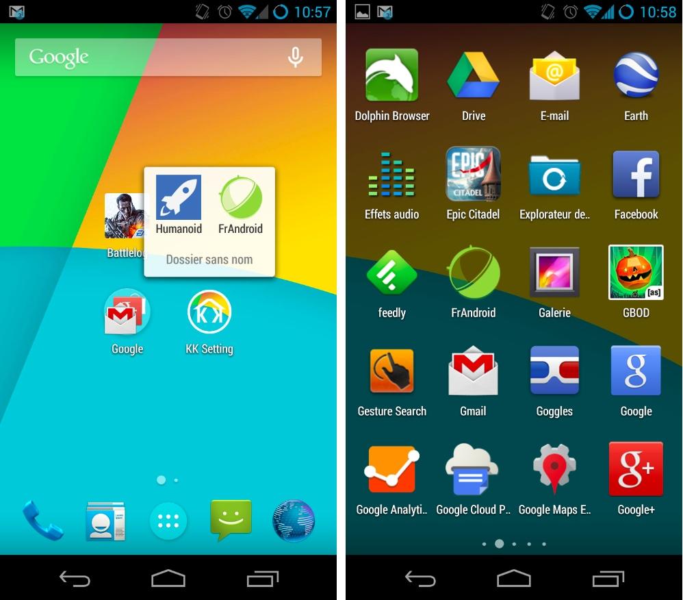 Epic Launcher et KitKat Launcher : partagez une barre de KitKat avec votre appareil Android