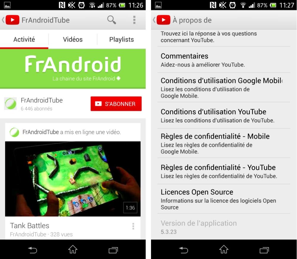 YouTube 5.3.23, une mise à jour qui améliore la navigation dans les chaînes sur Android