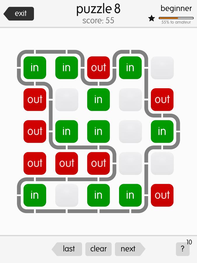Ins and outs, un puzzle-game simple mais efficace et original