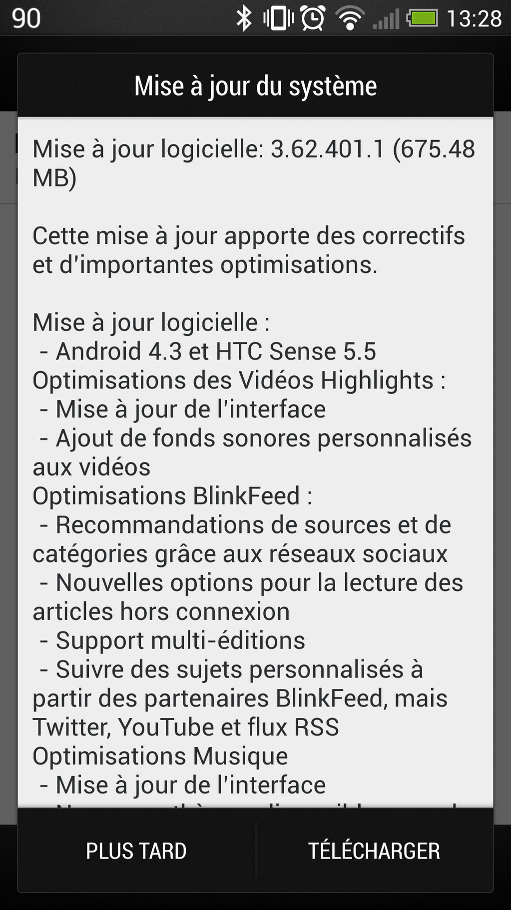 HTC One : la mise à jour vers Android 4.3 se déploie en France
