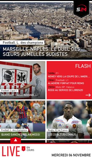 Sport24 : toute l'actualité sportive en une seule application
