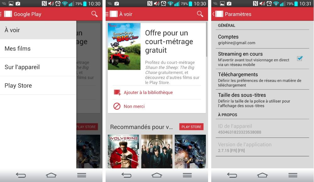 Google Play Films 2.7.15 améliore le mode hors-connexion