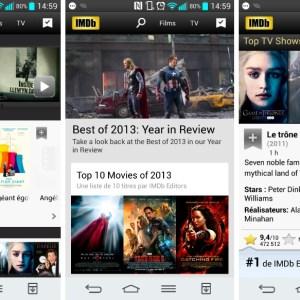 IMDb 4.0 s'offre une refonte de son interface sur Android