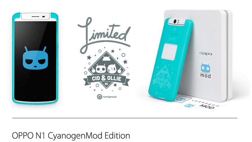 Oppo N1 CyanogenMod Limited Edition : le mobile, l'image de restauration et les sources sont disponibles