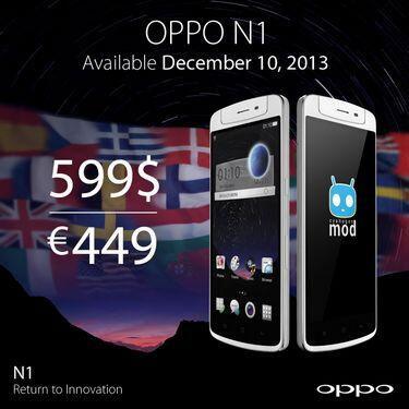 Oppo commercialisera son N1 à l'international le 10 décembre : Color OS mais pas de 4G pour 449 euros
