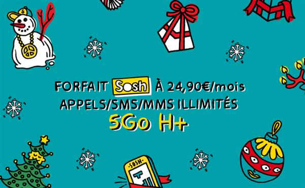 Sosh offre désormais 5 Go de data au lieu de 3 sur ses forfaits à 24,90 euros/mois et 54,90 euros/mois avec Livebox
