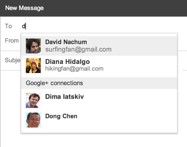 Quand Google+ et Gmail se prennent pour les pages blanches