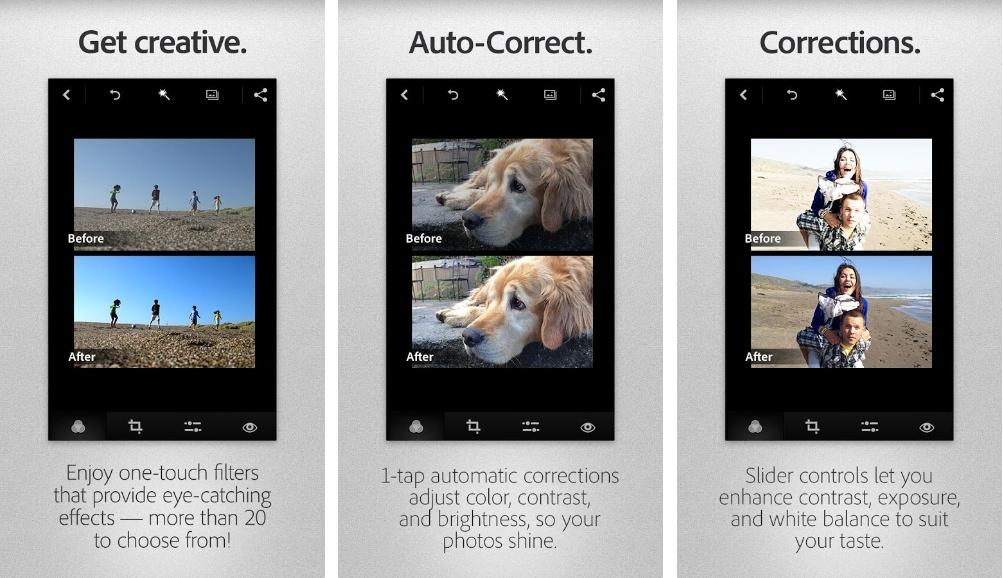 Adobe Photoshop Express 2.0 s'accompagne d'une refonte de l'interface et de la compatibilité avec KitKat