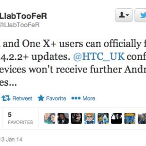 HTC confirme : les One X et One X+ ne seront plus mis à jour