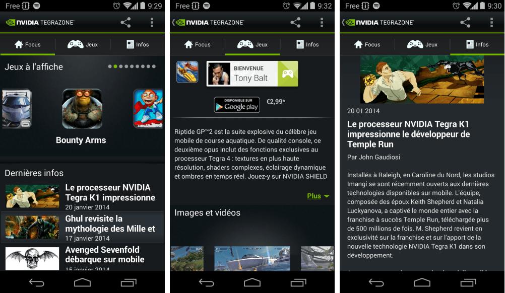 TegraZone 2.9 obtient la compatibilité avec les terminaux non-Tegra et Google Play Games