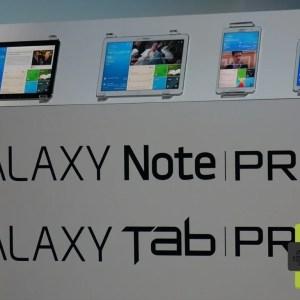 Samsung présente les Galaxy Tab Pro et Note Pro, des tablettes de 8,4 à 12,2 pouces