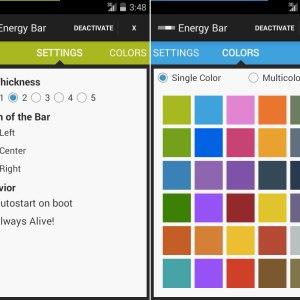 Energy Bar : customisez en couleurs votre indicateur de batterie