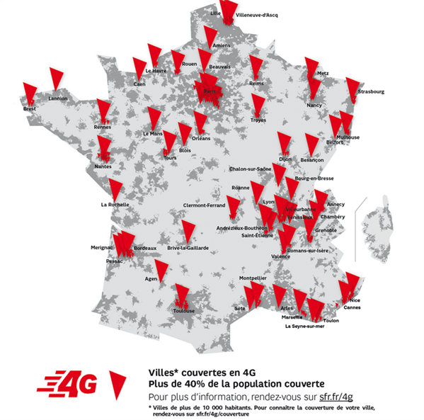 4G : SFR double Orange, Free Mobile accélère !