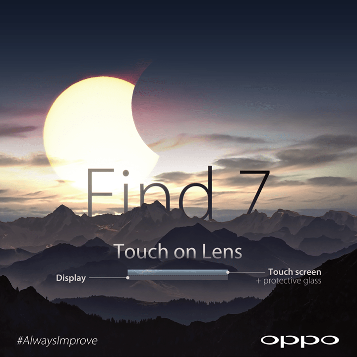 Oppo tease l'écran Touch on Lens de son Find 7